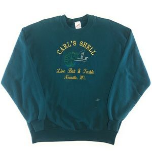 Vintage 90's Jerzees Carl's Shell Fishing Sweater